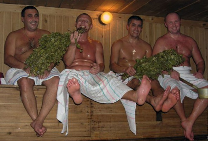 глазах фото три мужика в бане которыми задавался